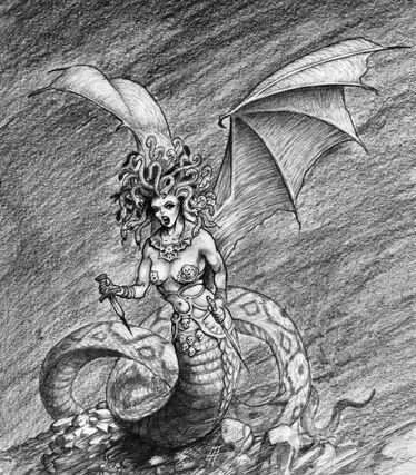 Medusa Gorgona por Tony Ackland