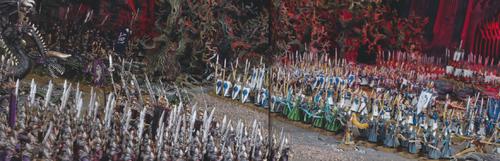 Batalla de la isla marchita altos elfos oscuros