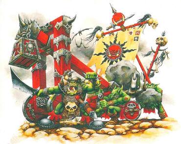 Catapulta Orcos y Goblins Lanzapiedroz imagen 4º edición Mark Gibbons