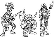 Personajes por Paul Bonner