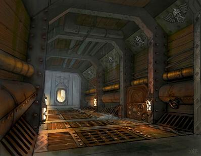 Warhammer Online Interior de un Acorazado Enano por Jonathan Kirtz