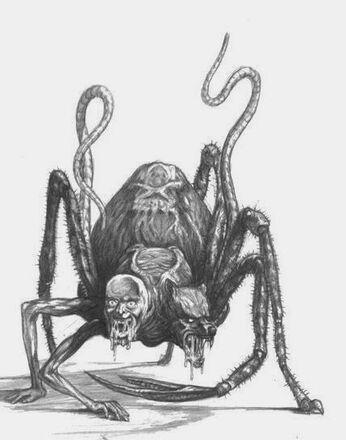 Engendro del Caos de Khorne Realms of Chaos por Tony Ackland