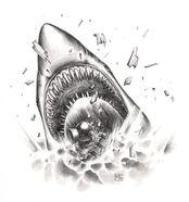 Megalodón por Mark Gibbons Man O' War