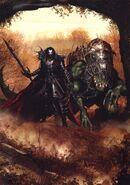 Portada Tormenta de Sangre Malus Darkblade por Clint Langley