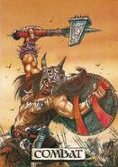 Portada manual combate Warhammer Segunda edición por Tony Ackland y John Blanche