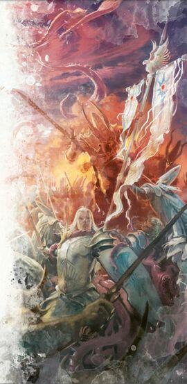 Altos elfos contra demonios de khorne
