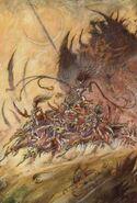 Glorioso Carro de Slaanesh Art por John Blanche
