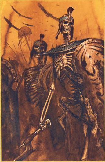 Guerreros esqueleto de khemri