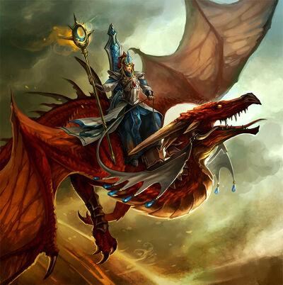 Mago Dragón por Sandara Altos Elfos