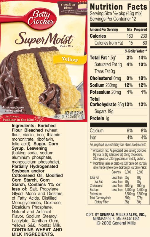 Yellow Cake Mix Substitute Dairy Free Recipes Wiki