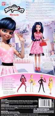 Marinette Fashion Doll spotted dress (back package)