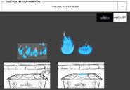 Zag Chibi - Fire Gas model sheet