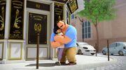 TB Tom Sabine hug