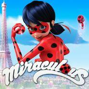 Miraculous - Eiffel Tower - Ladybug & Tikki poster