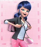 Marinette with her briefcase