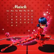 Miraculous Ladybug Calendar March 2020