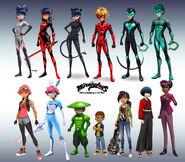 New Season 3 Miraculous Ladybug characters