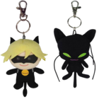 Cat Noir Duo Plush Keychain Pack