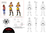 Nora model sheet