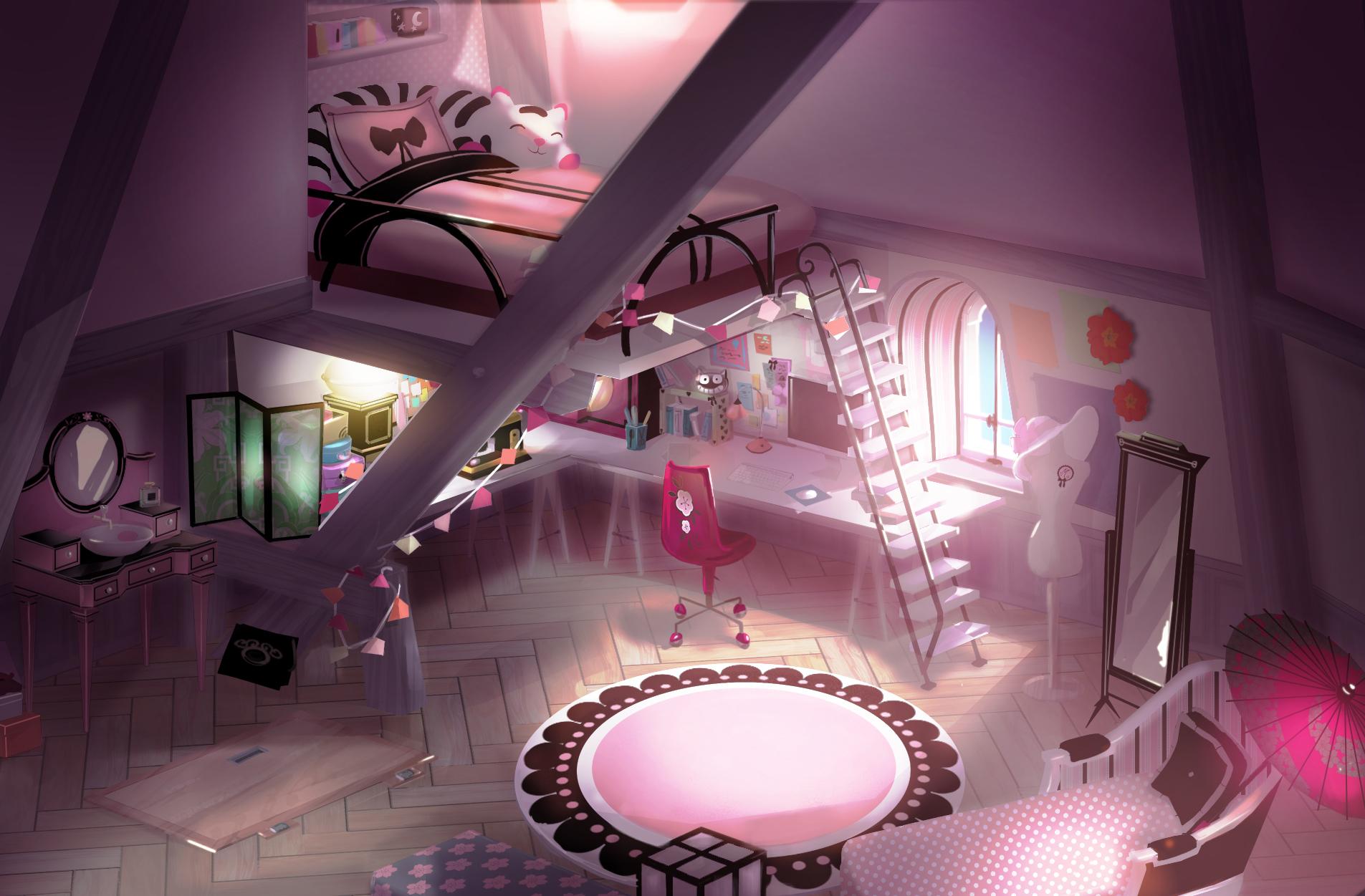 Marinette s Room 2D Concept Art jpg. Image   Marinette s Room 2D Concept Art jpg   Miraculous Ladybug