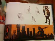 Sparrow Ladybug Artbook Page