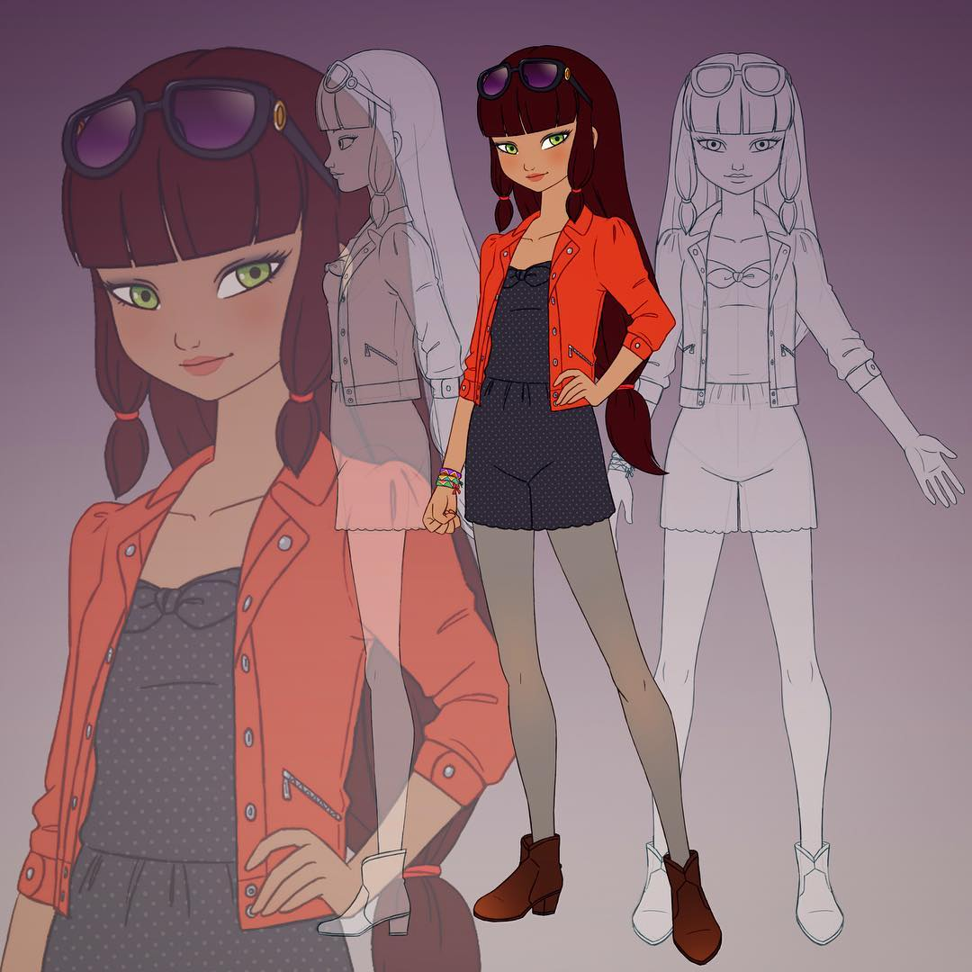 Character Design Side View : Image lila character design and side view g