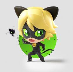 Chibi Cat Noir Circle BG
