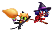 Ladybug and Cat Noir Halloween Witch drawing
