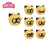 Cat Noir Chibi Character Sheet