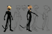 Cat Noir Early 2D Body Character Sheet