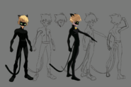 Cat Noir Early 2D Body Character Sheet