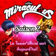 Miraculous S2 Teaser Announcement - Tfou (France)