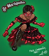 La Mariquita drawing by Thomas Astruc