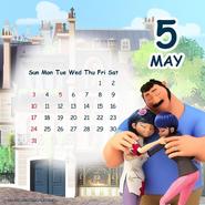 Miraculous Ladybug Calendar May 2020