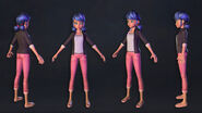 Miraculous Ladybug & Cat Noir - Marinette's model turnaround