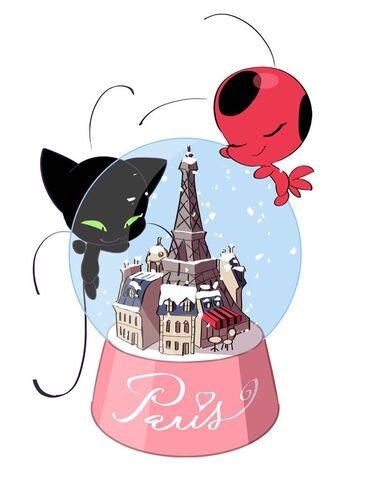 image plagg and tikki with snow globe artwork jpg miraculous
