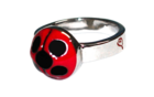 Lady Bug Silver Color Ring