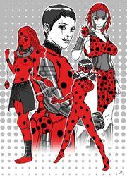 Hyppoliyia, Jeanne d'Arc, Mudekudeku and Ladybug