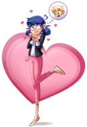 Marinette in love by Angie Nasca