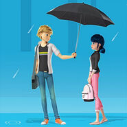 Adrinette umbrella scene