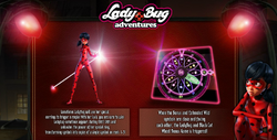 Ladybug with a wand in Super Lady Luck