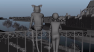 Pre-visualization of the Balcony scene animatic