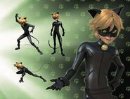 Cat Noir Renders artbook page
