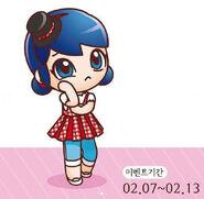 Chibi Valentine's day Marinette