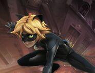 Cat Noir artbook character page