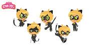 Cat Noir Chibi Character Sheet 2