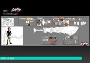Kung Food - Seafood Weapon model sheet