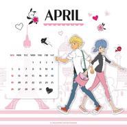 Miraculous Ladybug Calendar April 2020 (1)