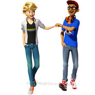 Adrien and Nino fist bump