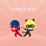 Chibi Ladybug and Chat Noir coral